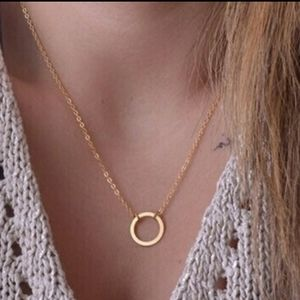 Boho Dainty gold tone chain necklace...NWT